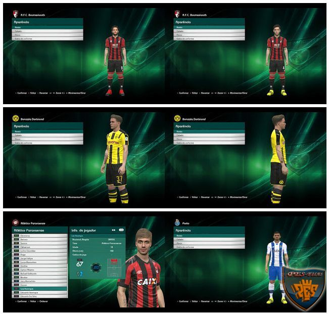 PES 2017 Mini tattopack by Marceu
