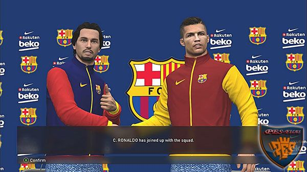 PES 2017 Barcelona Jackets & Press Conference Room