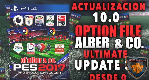 PES 2017 Actualization 10.0 PS4 by Alber Moment's