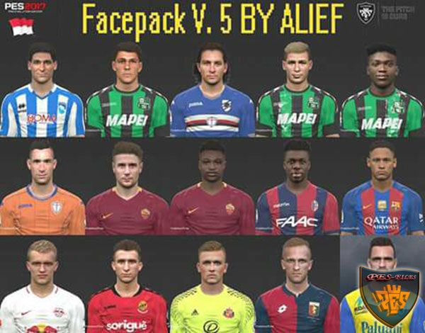 PES 2017 Facepack V. 5 by Alief
