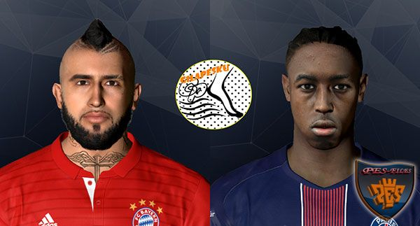 Pes 2017 Vidal and Presnel Kimpembe Face