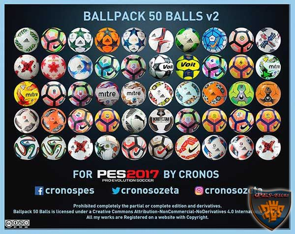 Ballpack 50 Balls v2 for PES 2017 by Cronos