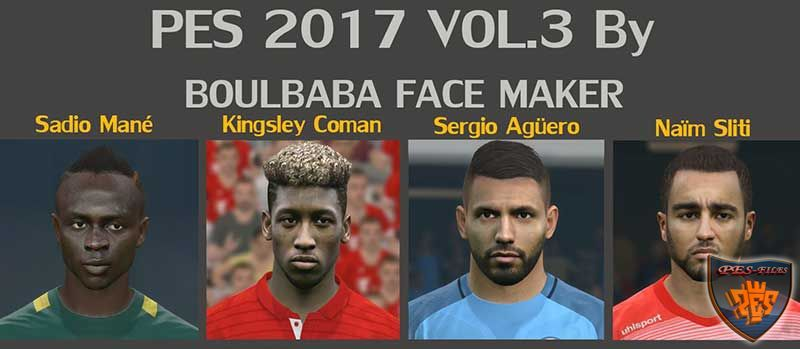 PES 2017 FacePack vol. 3 by Boulbaba Facemaker