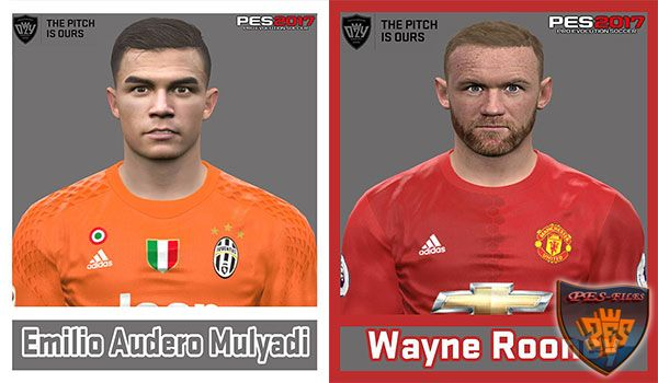 Pes 2017 Roony and Emilio Audero Face