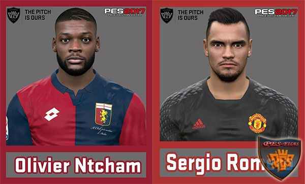 Pes 2017 Sergio Romero and Ntcham Face