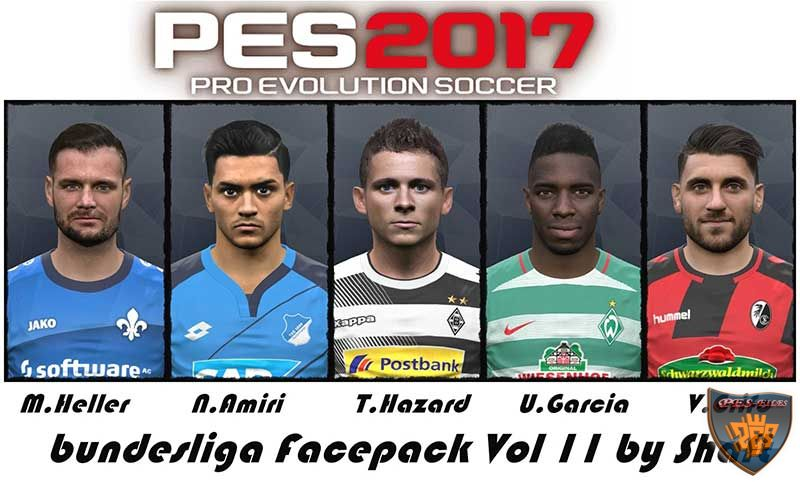 PES 2017 Bundesliga Facepack Vol 11