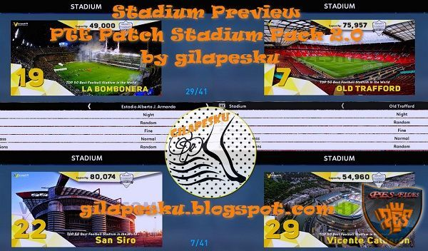 PES 2017 Stadium Preview PTE Patch Stadiumpack 2.0