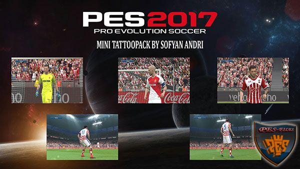 PES 2017 Mini Tattoopack By Sofyan Andri