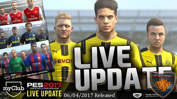 New Tactic & Formation PES2017 Live Update 06.04.2017