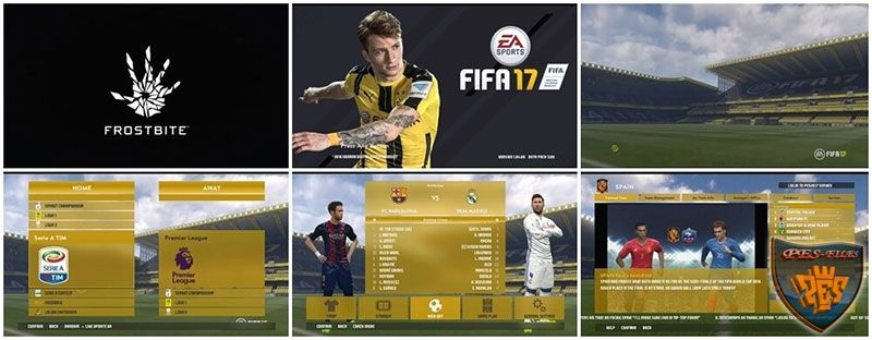 PES 2017 Graphic Menu FIFA 17
