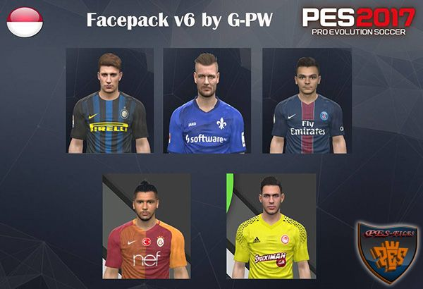 Pes 2017 Facepack v6 by G-PW