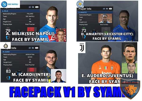 Pes 2017 Face Pack v1 by Syamil
