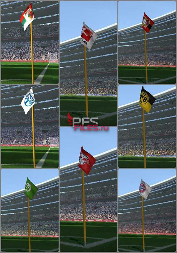 PES 2017 Bundes Corner Flags Pack