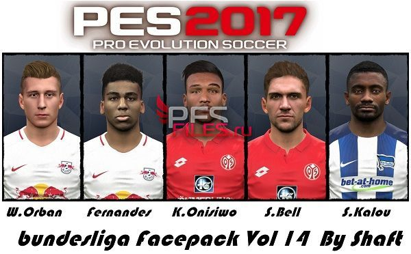 PES 2017 Bundesliga Facepack Vol 14 by Shaft