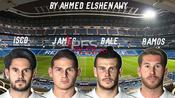 PES 2017 Real Madrid Facepack by Ahmed El Shenawy