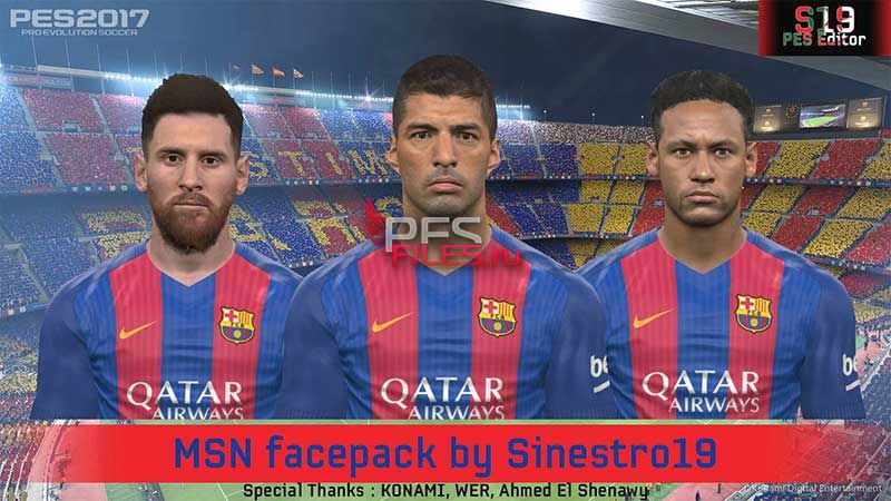 Pes 2017 Barcelona Face Pack by Sinestro19