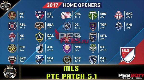 PES 2017 MLS Stars v2.1 For PTE Patch 5.1 (add-ons)