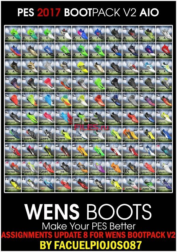 PES 2017 Assignments Update 8 for Wens Bootpack v2 by facuelpiojoso87