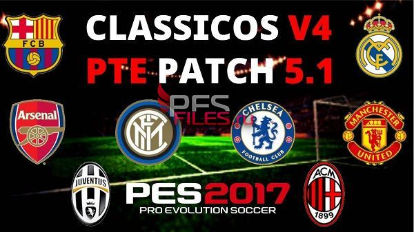 PES 2017 Classic Era Teams 4.0 for PTE Patch 5.1