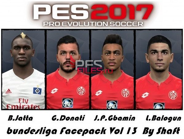 PES 2017 Bundesliga Facepack Vol 13 by Shafata