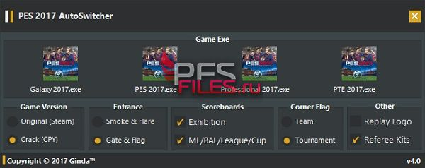 PES 2017 AutoSwitcher V4.0 By Ginda01
