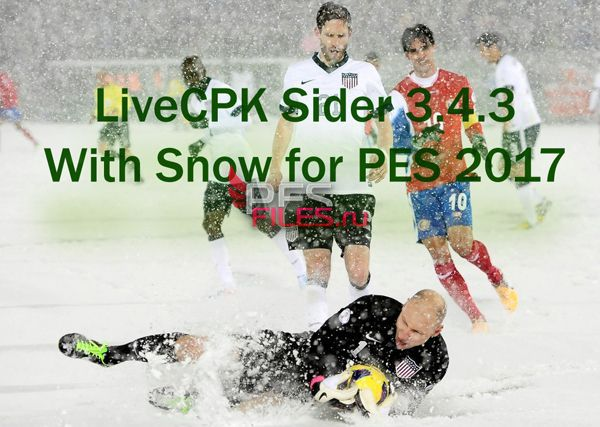 LiveCPK Sider 3.4.3 With Snow for PES 2017 by juce