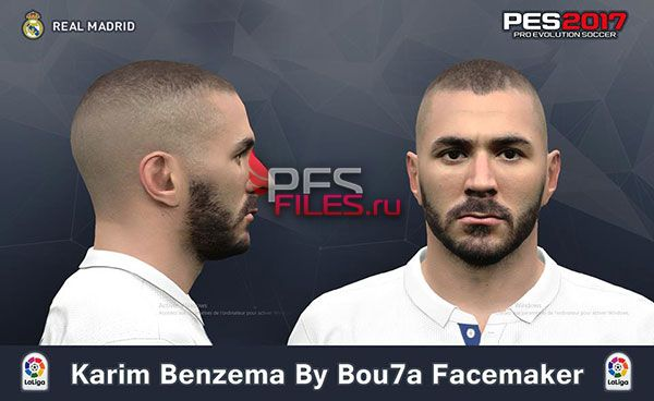 Pes 2017 Face Karim Benzema By Bou7a Facemaker