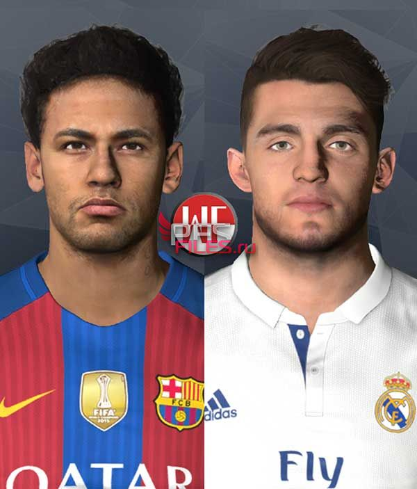 PES 2017 Neymar and Kovačić face
