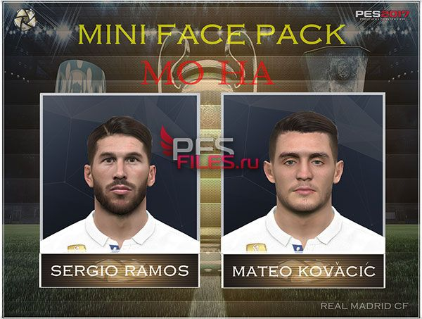 Pes 2017 Ramos and Kovacic face