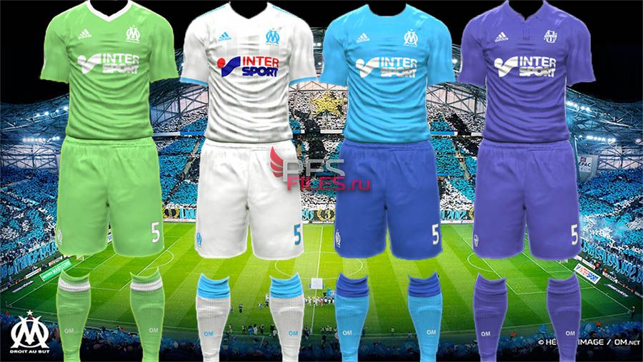Pes 2017 Olympique Marseille 17-18 kits by Egor_7