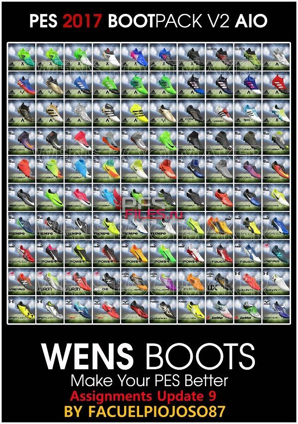 PES 2017 Assignments Update 9 for Wens Bootpack v2 by facuelpiojoso87