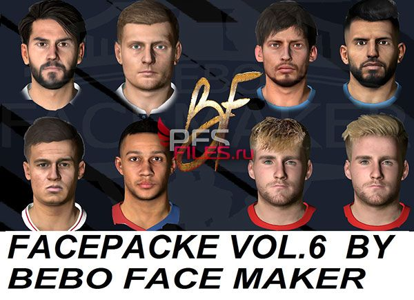PES 2017 Facepack Vol.6 by Bebo Facemaker