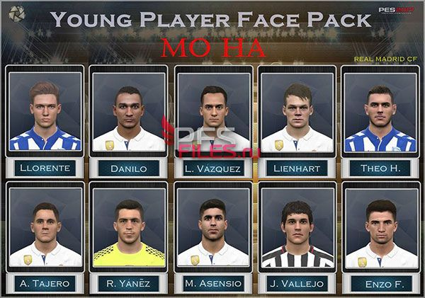 PES 2017 Young Player Real Madrid Facepack