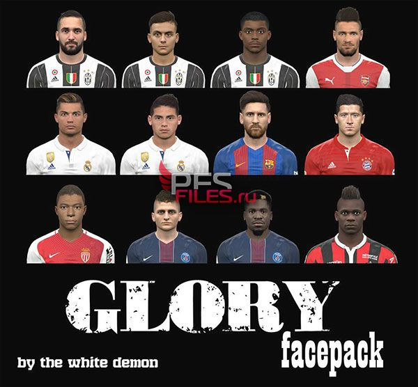 PES 2017 Glory Facepack By The White Demon