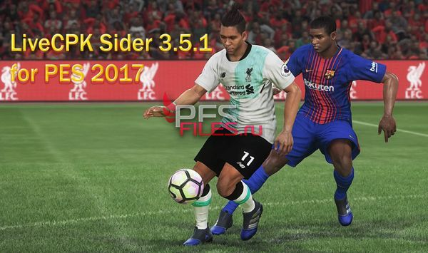 LiveCPK Sider 3.5.1 for PES 2017 by juce