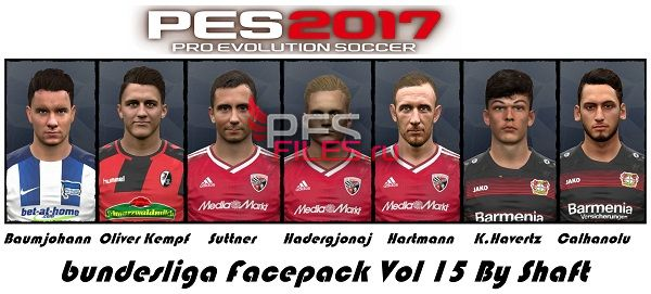 PES 2017 Bundesliga Facepack Vol 15 By Shaft