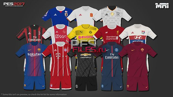 PES 2017 17/18 Kitpack v1 by MRI_20Mods