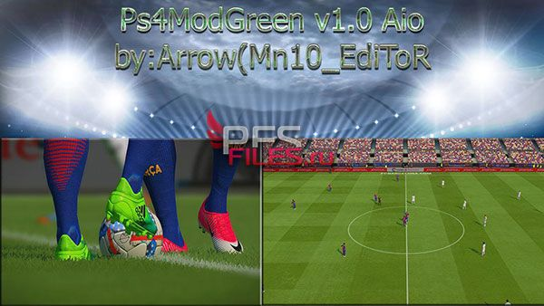 PES 2017 PS4 Mod Green 1.0 All In One