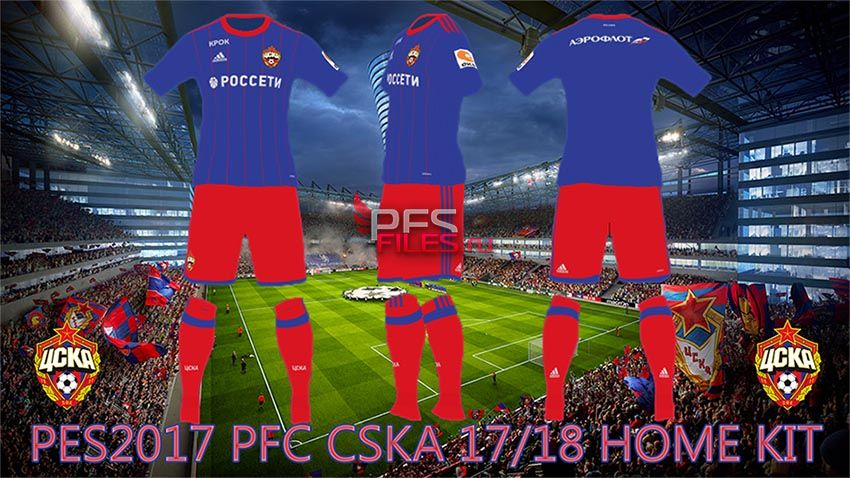 Pes 2017 CSKA Moscow 17-18 Home Kit by Egor_7