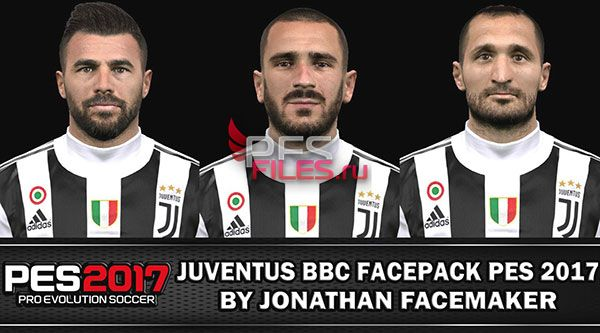 Pes 2017 Juventus Facepack by Jonathan Facemaker