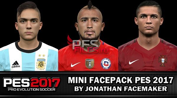 PES 2017 Mini facepack PES 2017