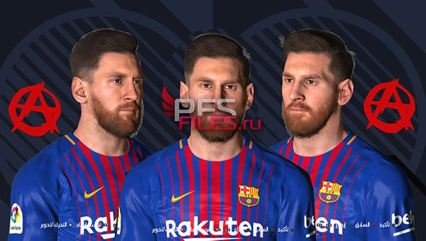 Messi Face Pes 2018 for Pes 2017