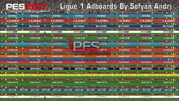 PES 2017 Ligue 1 New Adboards By Sofyan Andri