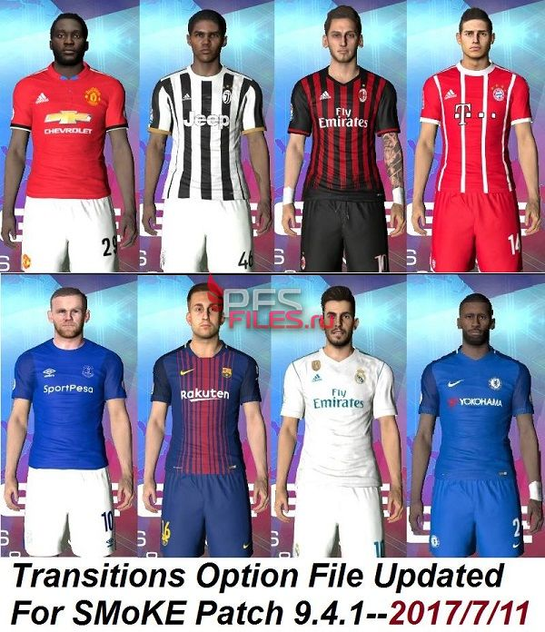 PES 2017 Transitions+Updating plans Option File
