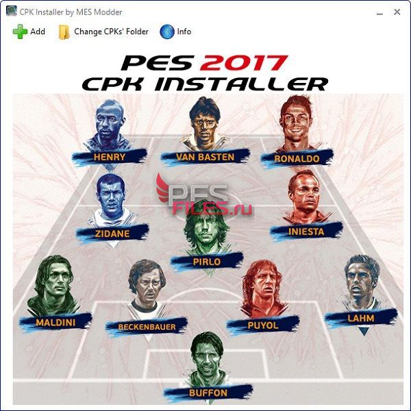 PES 2017 CPK Installer v1.0 by MES Modder