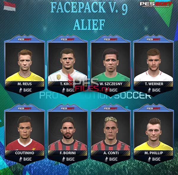 PES 2017 Facepack v 9 by Alief
