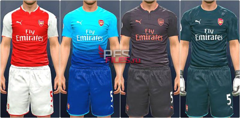 PES 2017 Arsenal Kit 2017-18