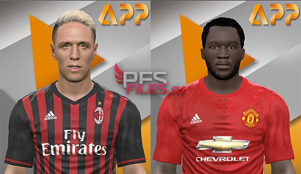 Pes 2017 Andrea Conti and Lukaku Face