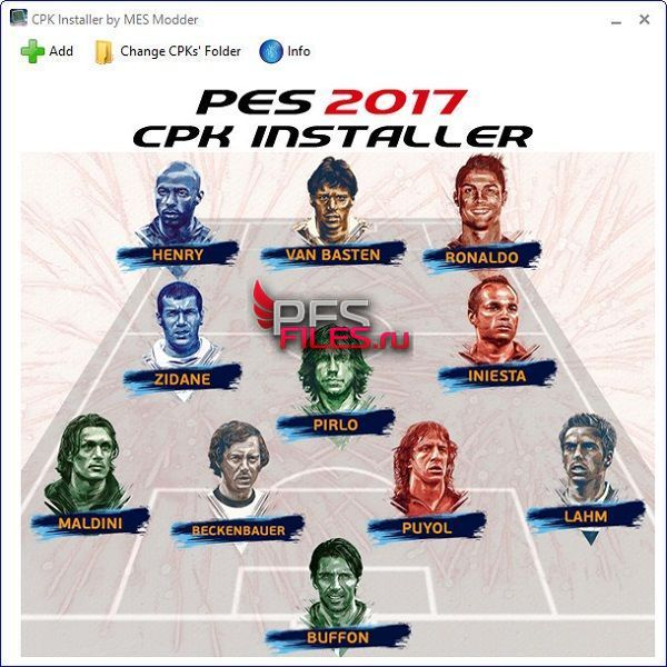 PES 2017 CPK Installer v1.1 by MES Modder