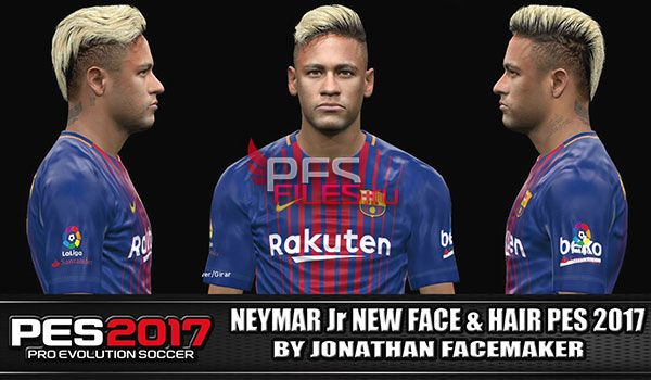 Neymar New Face and Hair PES 2017